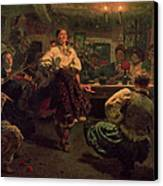 Country Festival Canvas Print by Ilya Efimovich Repin