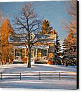 Country Home Oil Canvas Print