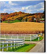 Country Lane Canvas Print by Frozen in Time Fine Art Photography