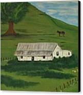 Country Life Canvas Print by Melanie Blankenship