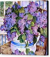 Country Lilacs Canvas Print by Sherri Crabtree