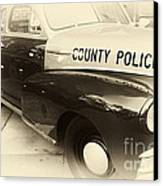 Country Police Antique Toned Canvas Print