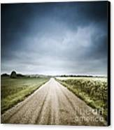 Country Road Through Fields, Denmark Canvas Print by Evgeny Kuklev