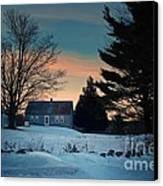 Countryside Winter Evening Canvas Print
