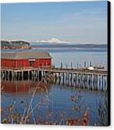 Coupeville Jetty Canvas Print by Gordon  Grimwade