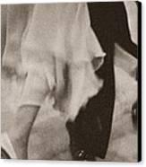 Couple Ballroom Dancing Legs Canvas Print