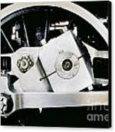 Coupling Rod And Driver Wheels For A Steam Locomotive Canvas Print
