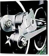 Coupling Rods And Driver Wheels For A Steam Locomotive Canvas Print