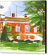 Courthouse On A Summers Evening Canvas Print by Kip DeVore