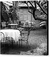 Courtyard Seating Canvas Print