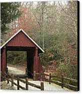 Covered Bridge Canvas Print by Cindy Rubin