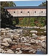 Covered Bridge Vermont Canvas Print by Edward Fielding