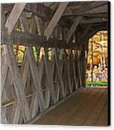 Covered Bridge Canvas Print by Victoria Sheldon