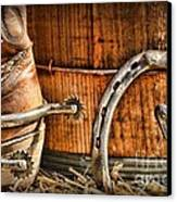 Cowboy Boots And Spurs Canvas Print by Paul Ward