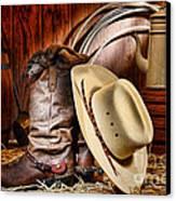 Cowboy Gear Canvas Print by Olivier Le Queinec