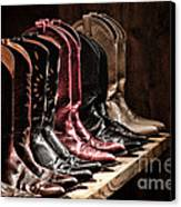 Cowgirl Boots Collection Canvas Print