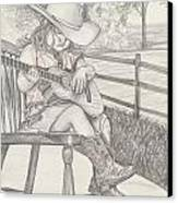 Cowgirl Melody Canvas Print by Beverly Marshall