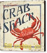 Crab Shack Canvas Print by Debbie DeWitt