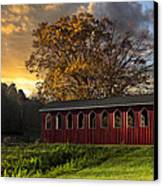 Crack Of Dawn Canvas Print by Debra and Dave Vanderlaan