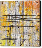 Cracked Wood Background Canvas Print by Carlos Caetano