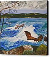 Crashing Wave Canvas Print by Eric Johansen