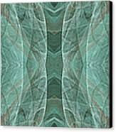 Crashing Waves Of Green 1 - Panorama - Abstract - Fractal Art Canvas Print