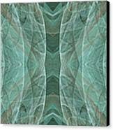 Crashing Waves Of Green 2 - Panorama - Abstract - Fractal Art Canvas Print