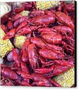 Crawfish Time In Louisiana Canvas Print by Katie Spicuzza