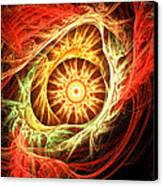 Creation Of Sun Canvas Print by Lourry Legarde