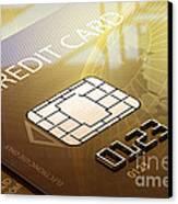 Credit Card Macro - 3d Graphic Canvas Print