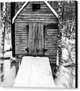 Creepy Cabin In The Woods Canvas Print by Edward Fielding