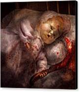 Creepy - Doll - Night Terrors Canvas Print by Mike Savad