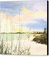 Crescent Beach Canvas Print by Shawn McLoughlin