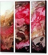 Crimson Cream Original Painting Madart Canvas Print