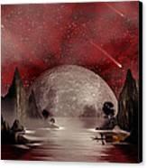 Crimson Night Canvas Print by Anthony Citro