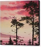 Crimson Sunset Splendor Canvas Print by James Williamson