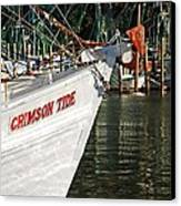 Crimson Tide Bow Canvas Print by Michael Thomas