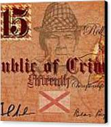 Crimson Tide Currency Canvas Print by Greg Sharpe