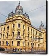 Croatian Railways Administration Building In Zagreb  Canvas Print by Borislav Marinic