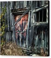 Crooked Barn - Rustic Barns Series  Canvas Print