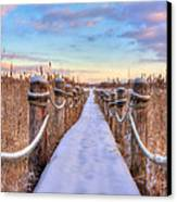 Crooked Lake Boardwalk Canvas Print by Jenny Ellen Photography