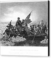 Crossing The Delaware Canvas Print by Granger