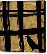 Crow And Golden Light Number 2 Canvas Print by Carol Leigh