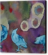 Crow Series 6 Canvas Print by Helen Klebesadel