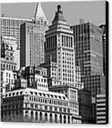 Crowded City Ny Canvas Print by Thomas Fouch