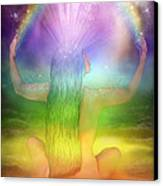 Crown Chakra Goddess Canvas Print by Carol Cavalaris