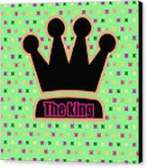 Crown In Pop Art Canvas Print by Tommytechno Sweden