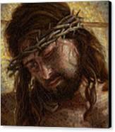 Crown Of Thorns Glass Mosaic Canvas Print