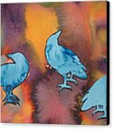 Crow Series 1 Canvas Print by Helen Klebesadel