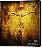 Crucified Via Dolorosa 12 Canvas Print by Lianne Schneider